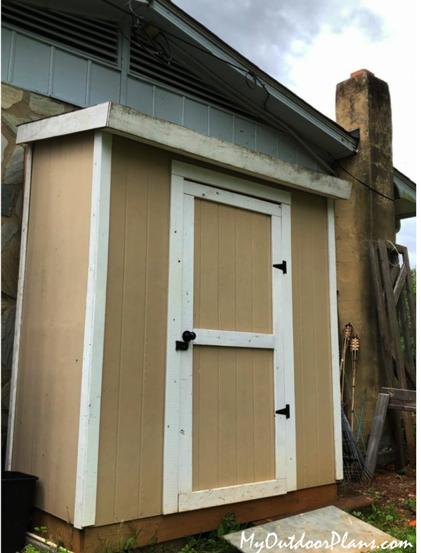 DIY 3x6 Lean to Shed