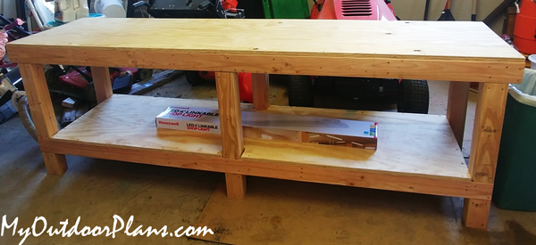 DIY 8 ft Workbench