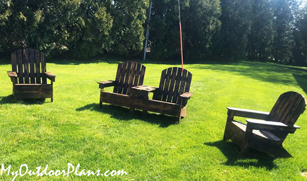 DIY Double Chair Adirondack Bench