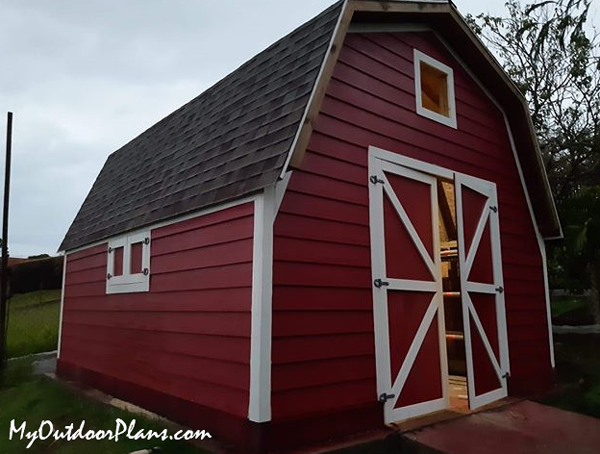 DIY 14x16 Barn Shed