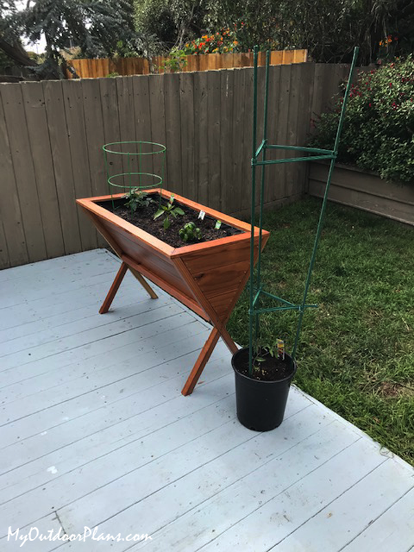 DIY V-shaped Elevated Planter
