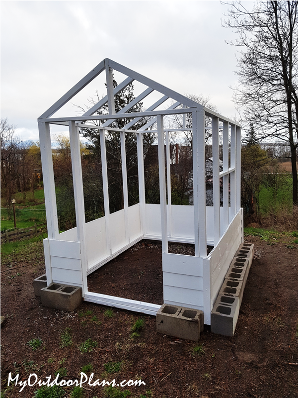 DIY-Wood-Greenhouse-with-gable-roof