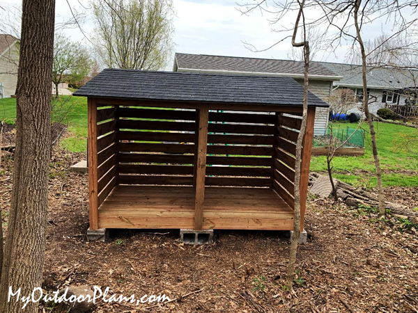 DIY Lean To Firewood Storage Shed