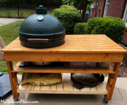DIY XL Green Egg Table