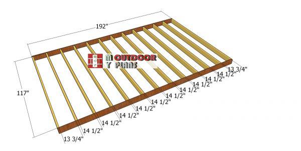 Floor-frame---10x16-shed