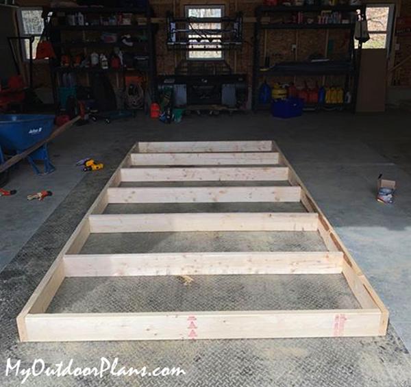 Floor-frame---wood-storage-shed