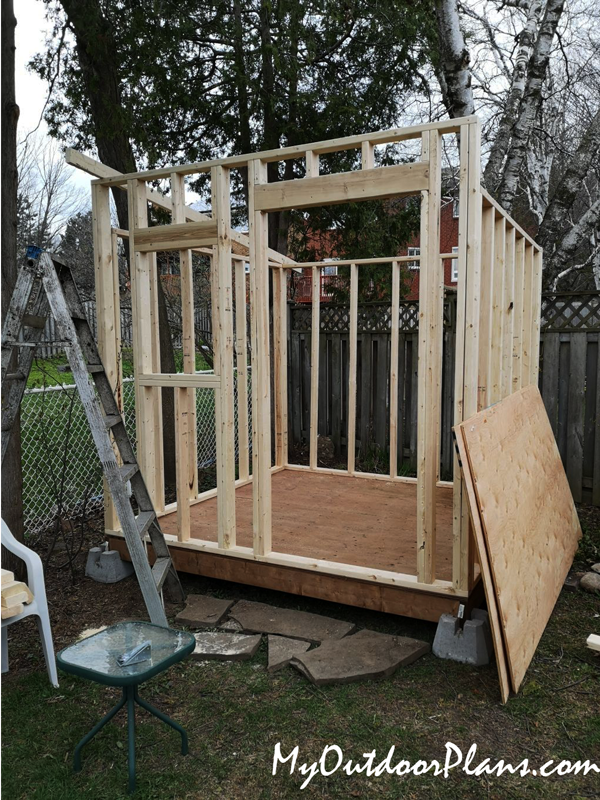 How To Build A 8x8 Lean To Shed Myoutdoorplans Free