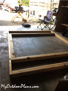 Framing-the-front-wall-frame