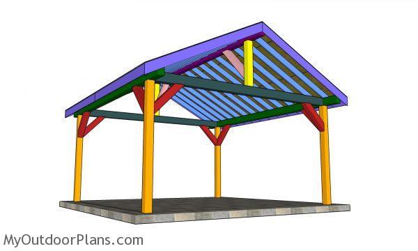 16x16 Pavilion Plans - assembled