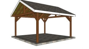 16×16 Gable Pavilion Plans