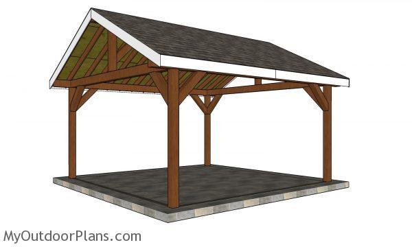 16x16 Pavilion Plans