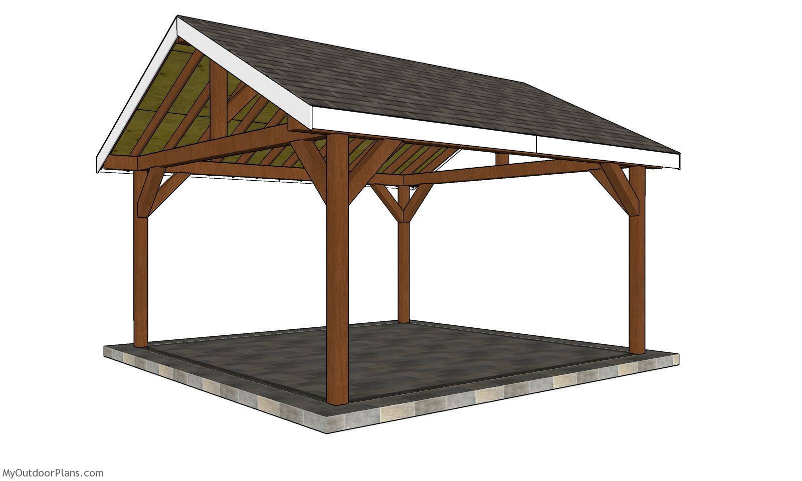 16x16 Gable Pavilion Plans