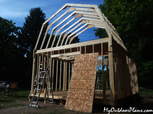 16x20-Gambrel-Shed-roof---diy