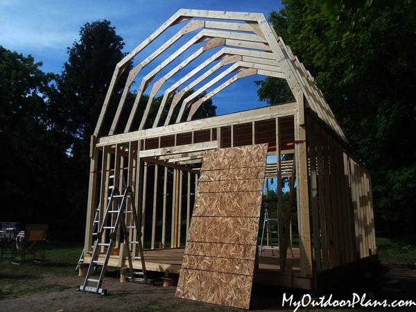 16x20-Gambrel-Shed-roof---diy