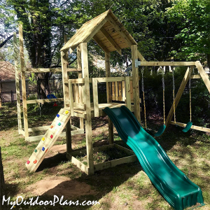 Build-a-playset-with-forts-and-sliders---DIY-Project