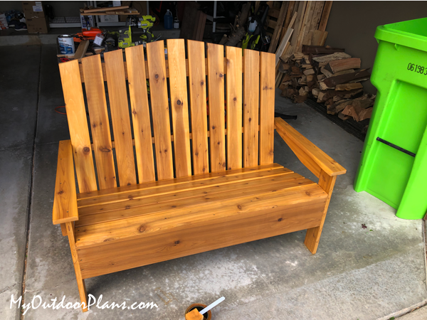 DIY Wood Adirondack Loveseat