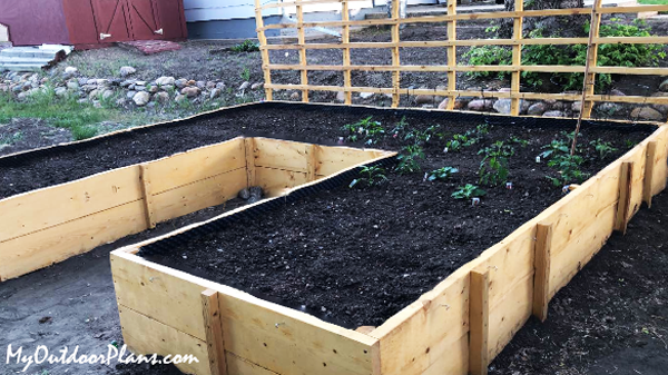 DIY Project - U-shaped Garden Bed