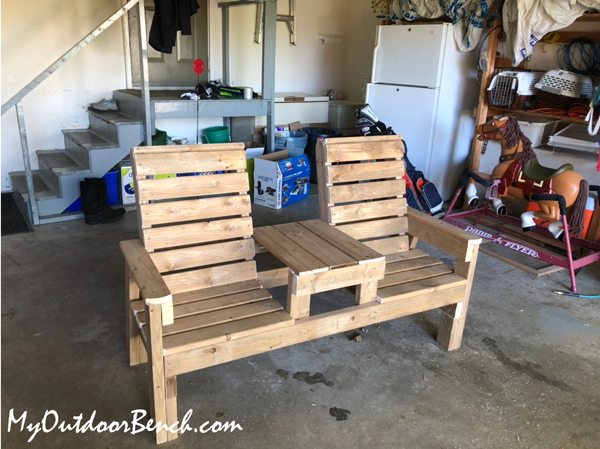 DIY Project - Double Chair Bench with Table