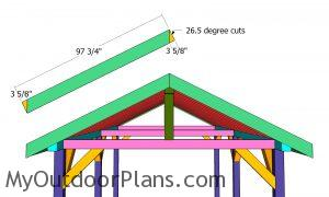 Fitting the gable end trims