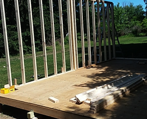 Fitting-the-wall-frames-to-the-16x20-barn-shed