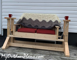 Glider-stand-with-Bench---DIY-Project