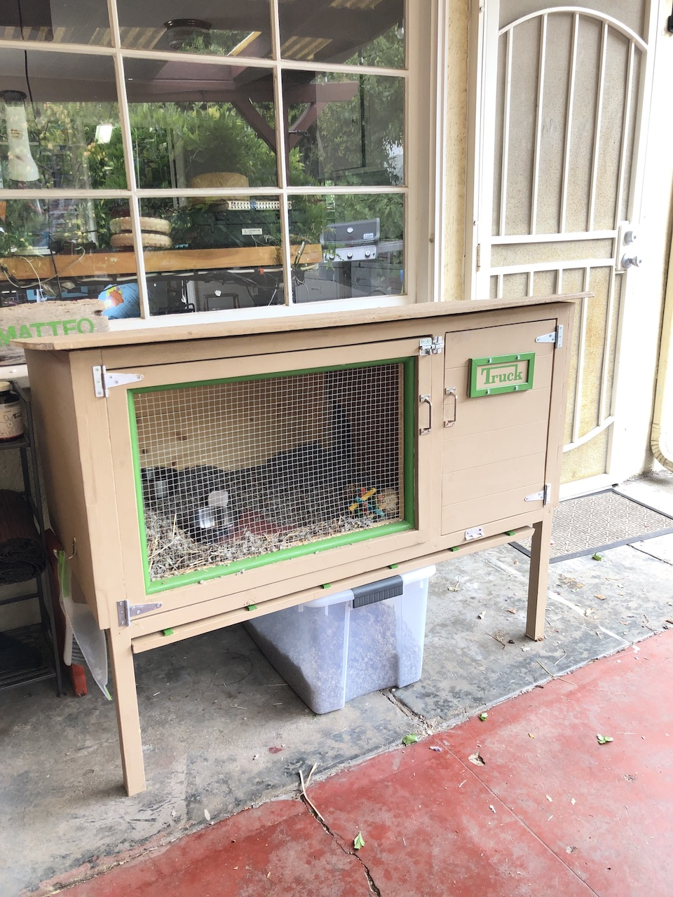 DIY Truck's Place (Outdoor Rabbit Hutch)