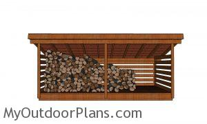 5 cord Wood Shed - front view