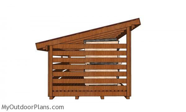 5 cord Wood Shed - side view