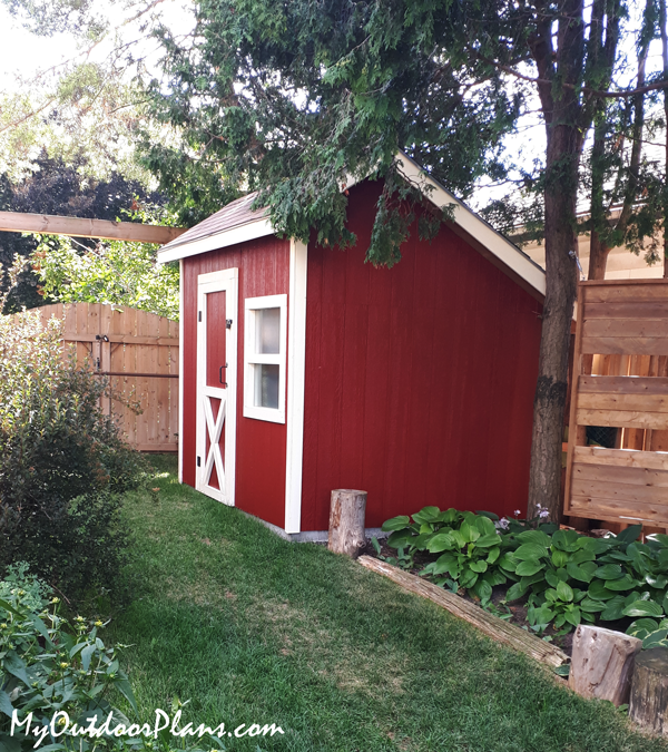 DIY 8x10 Saltbox Shed