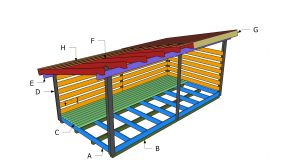 8×16 Firewood Shed Roof Plans