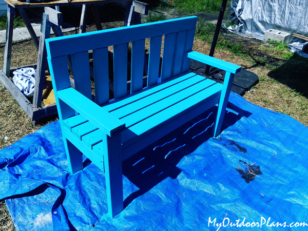 DIY Simple Bench from 2x4s