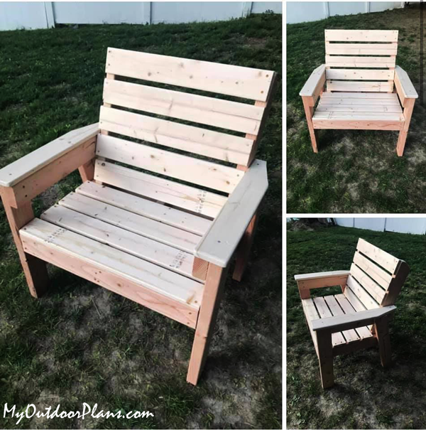 DIY Large Patio Chair