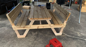 DIY 6 ft Picnic Table with Backrests