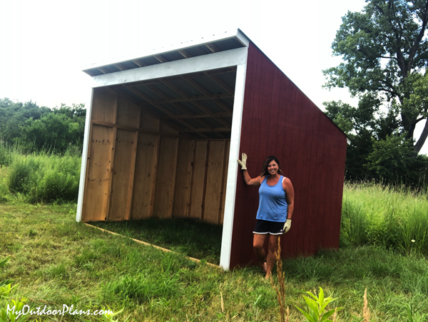 DIY 10x14 Run In Shed