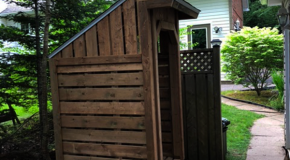 DIY 4×4 Firewood Shed