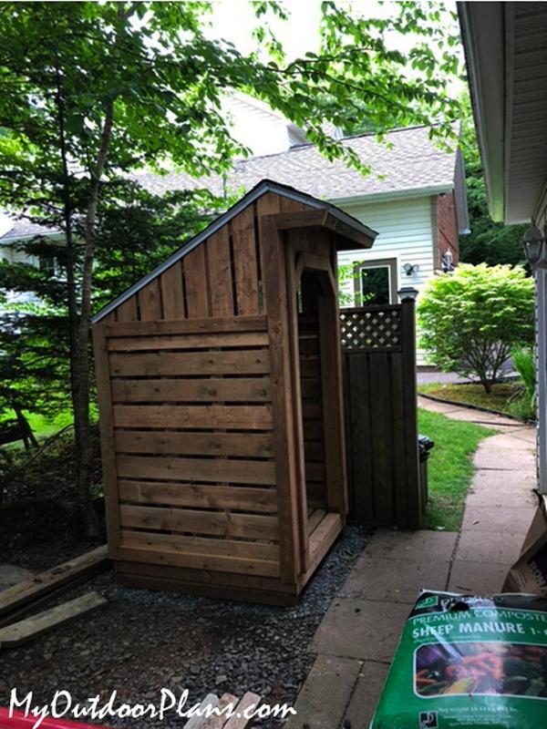 DIY 4x4 Firewood Shed