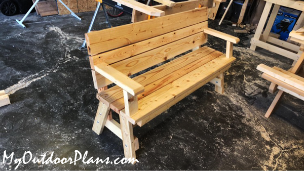 DIY 5 ft Garden Bench