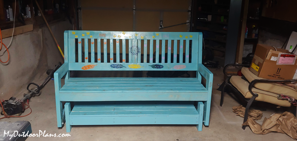 DIY Wood Glider Bench with Stand