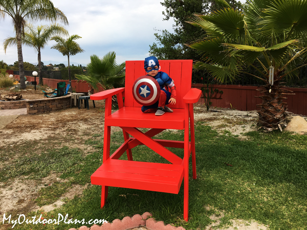 DIY Wood Lifeguard Chair
