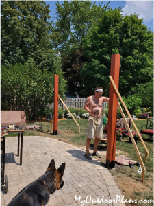 Installing-the-posts-for-the-garden-pergola