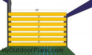 Side slats shed panels