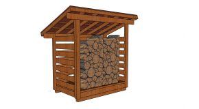 4×6 1 Cord Firewood Shed Plans
