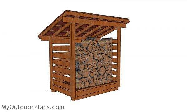 1 cord Wood Shed - Free DIY Plans