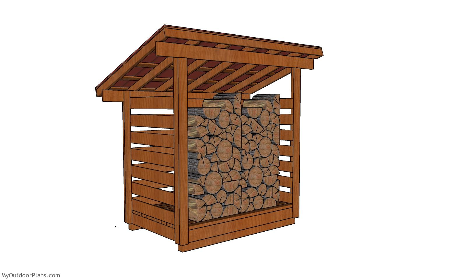 4x6 1 Cord Firewood Shed Plans
