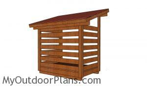 1 cord Wood Shed - back view