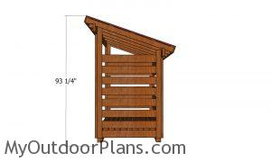 1 cord Wood Shed - side view