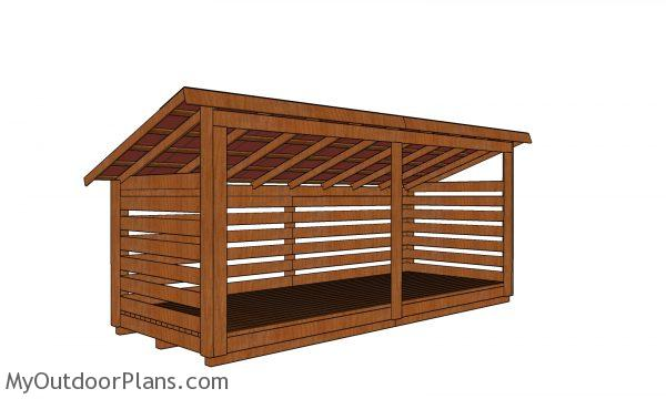 4 cord Wood Shed Plans