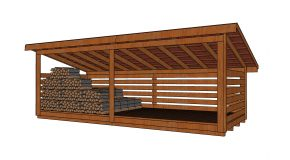 8×20 6 Cord Wood Storage Shed Plans