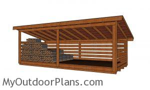 6 cord Wood Shed