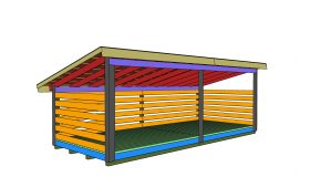 8×20 6 Cord Firewood Shed Roof Plans